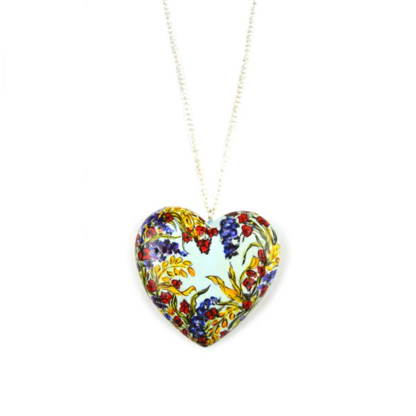 heart pendant blue