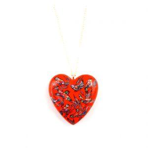 heart pendant red
