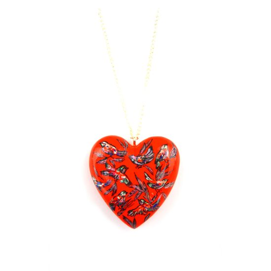 heart pendant red