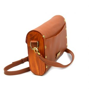 wooden leather hanbag with shevitza